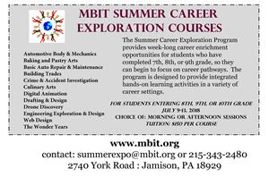 Summer Career Exploration Courses