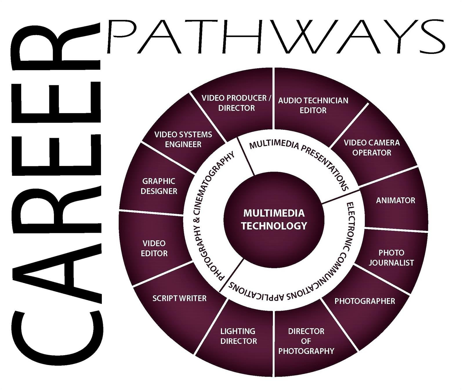 Career Pathway Wheel for Multimedia Technology