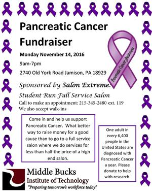 Pancreatic Cancer Fundraiser Flyer